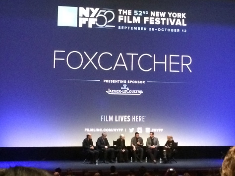 Mark Bakshi, Anthony Michael Hall, Vanessa Redgrave, Channing Tatum and Steve Carell at NYFF 52 - October 2014