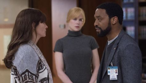 Staring. So much staring. Nicole Kidman does not break eye contact with Chiwetel Ejiofor the entire film.